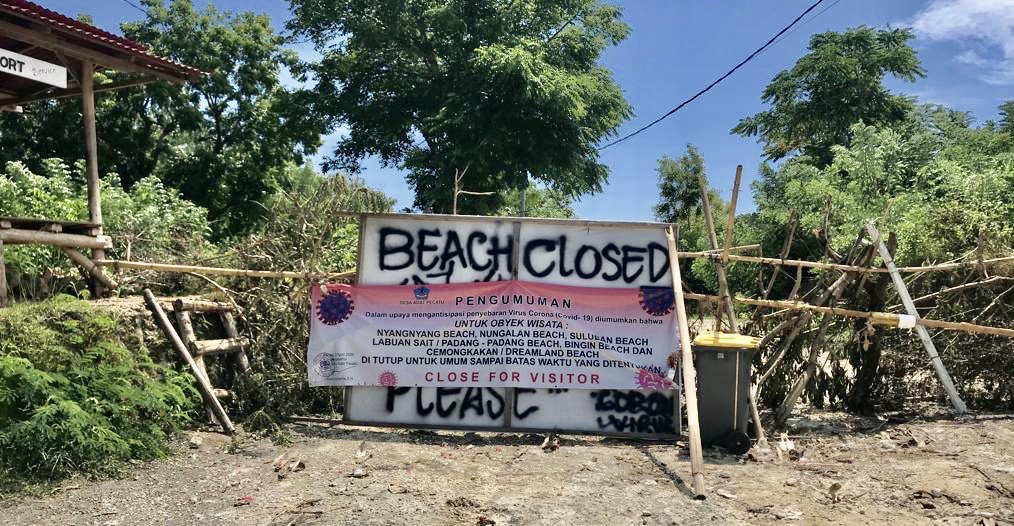 thomas-beach-closed-covid-19-bali
